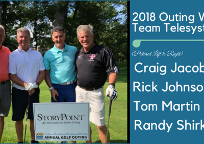 WINNING TEAM Telesystem tom martin ick johnson scott seiple randy shirk